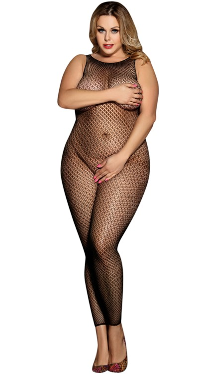 Double Weave Footless Bodystocking (Plus Size)
