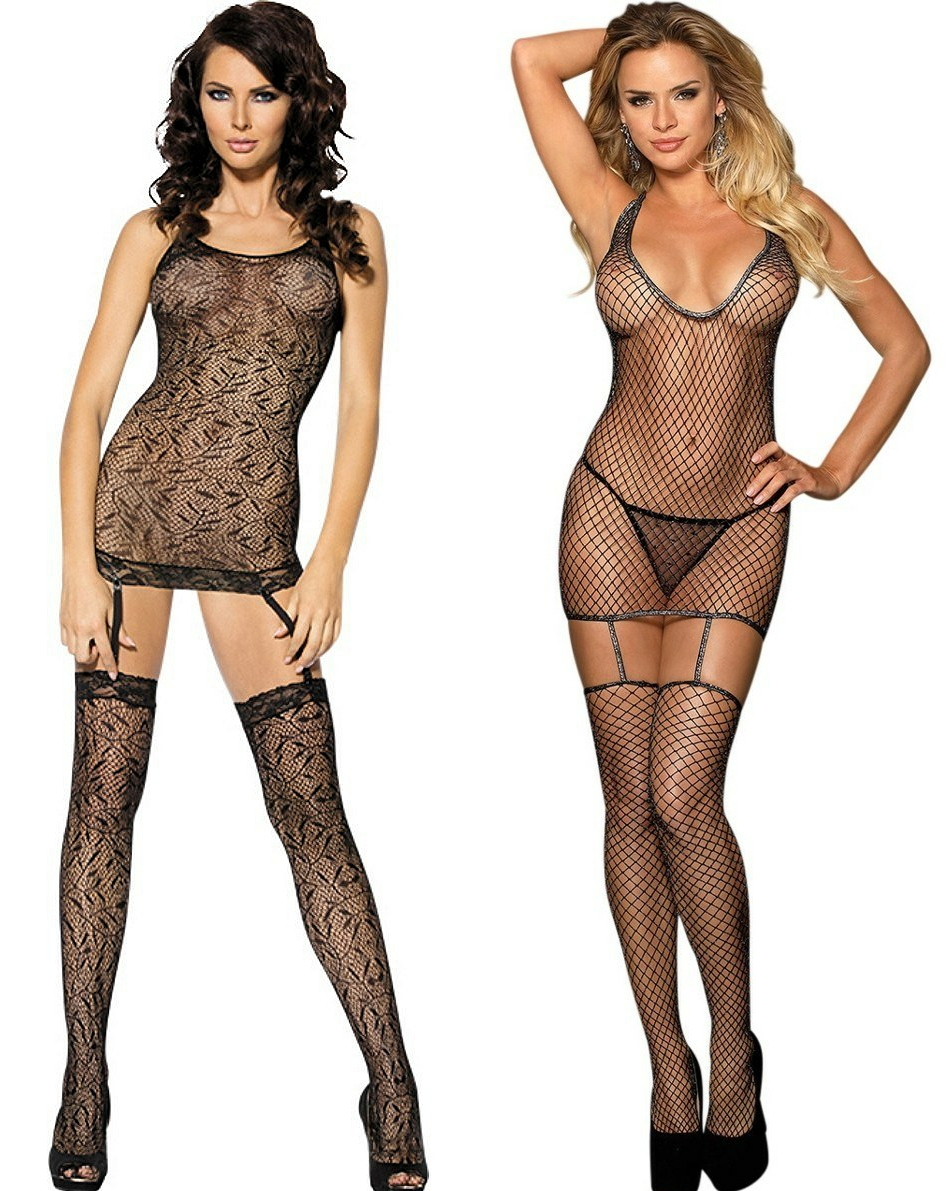Garter Dress Bodystocking