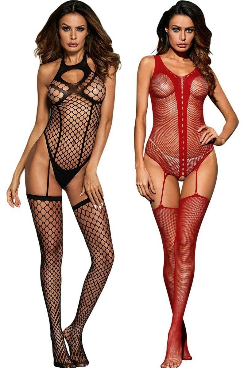Teddy Suspender Bodystocking